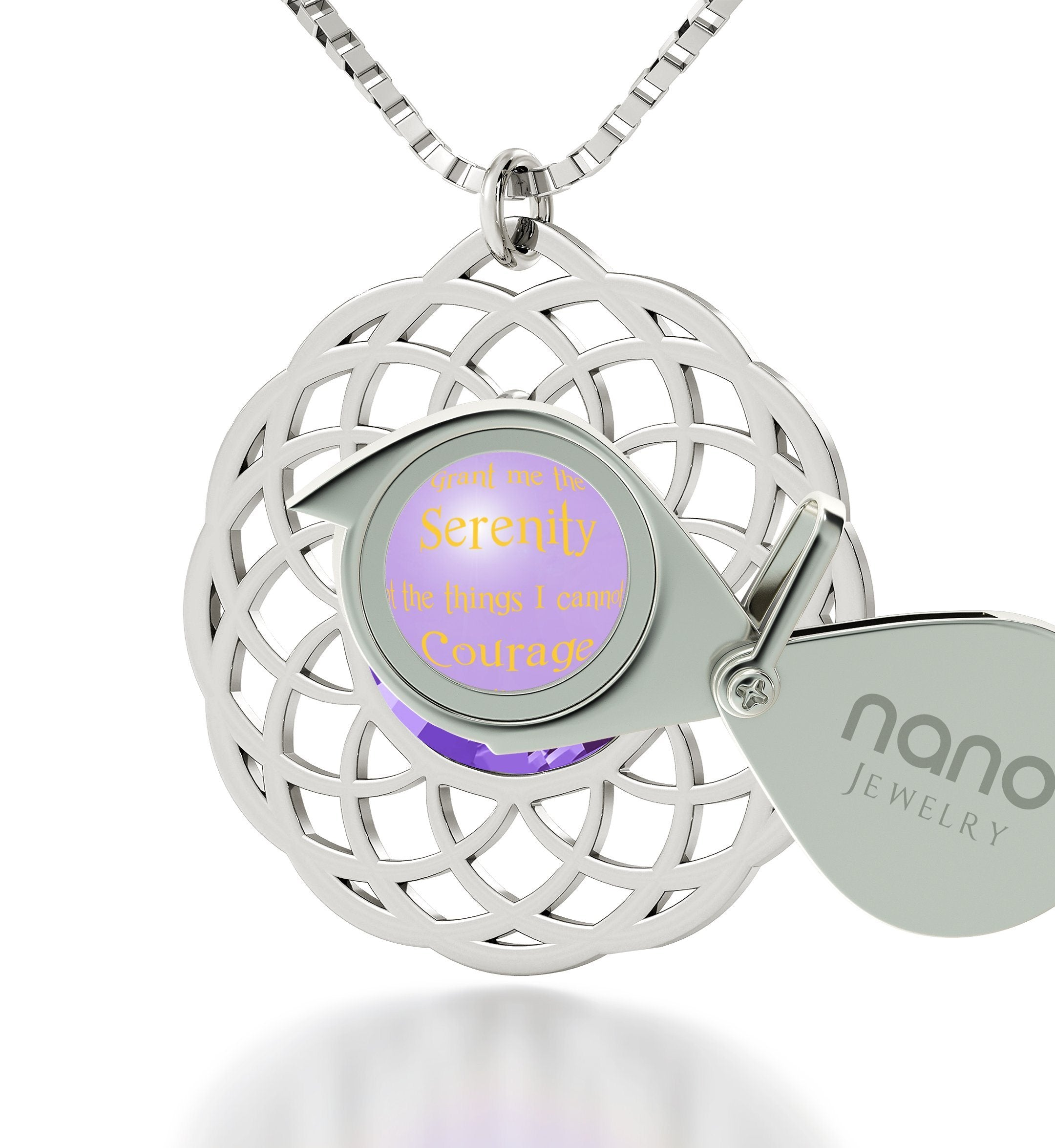 Serenity Jewelry: What to Get Girlfriend for Christmas, Best Presents for Women, Purple Necklace, Nano Jewelry