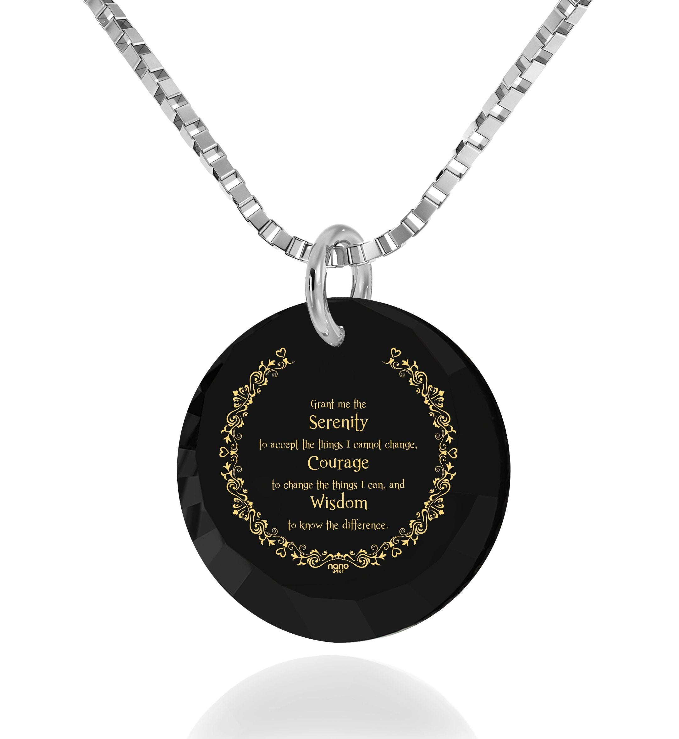 Serenity Prayer Jewelry: Christmas Presents for Him, Cool Man Gifts, Nano Jewelry