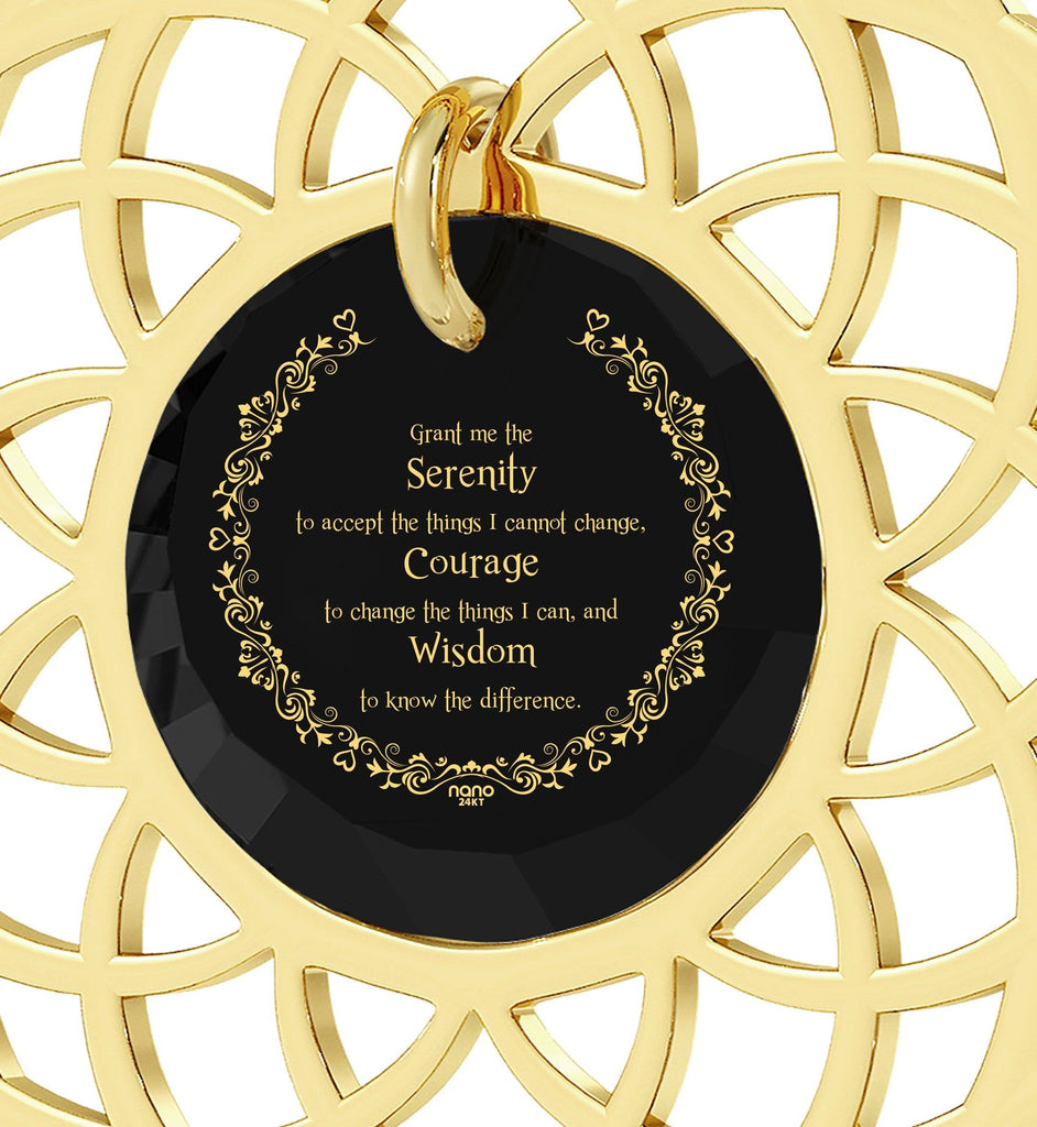 Serenity Prayer Jewelry: Christmas Presents for Sister, Graduation Gifts for Her, Nano Jewelry