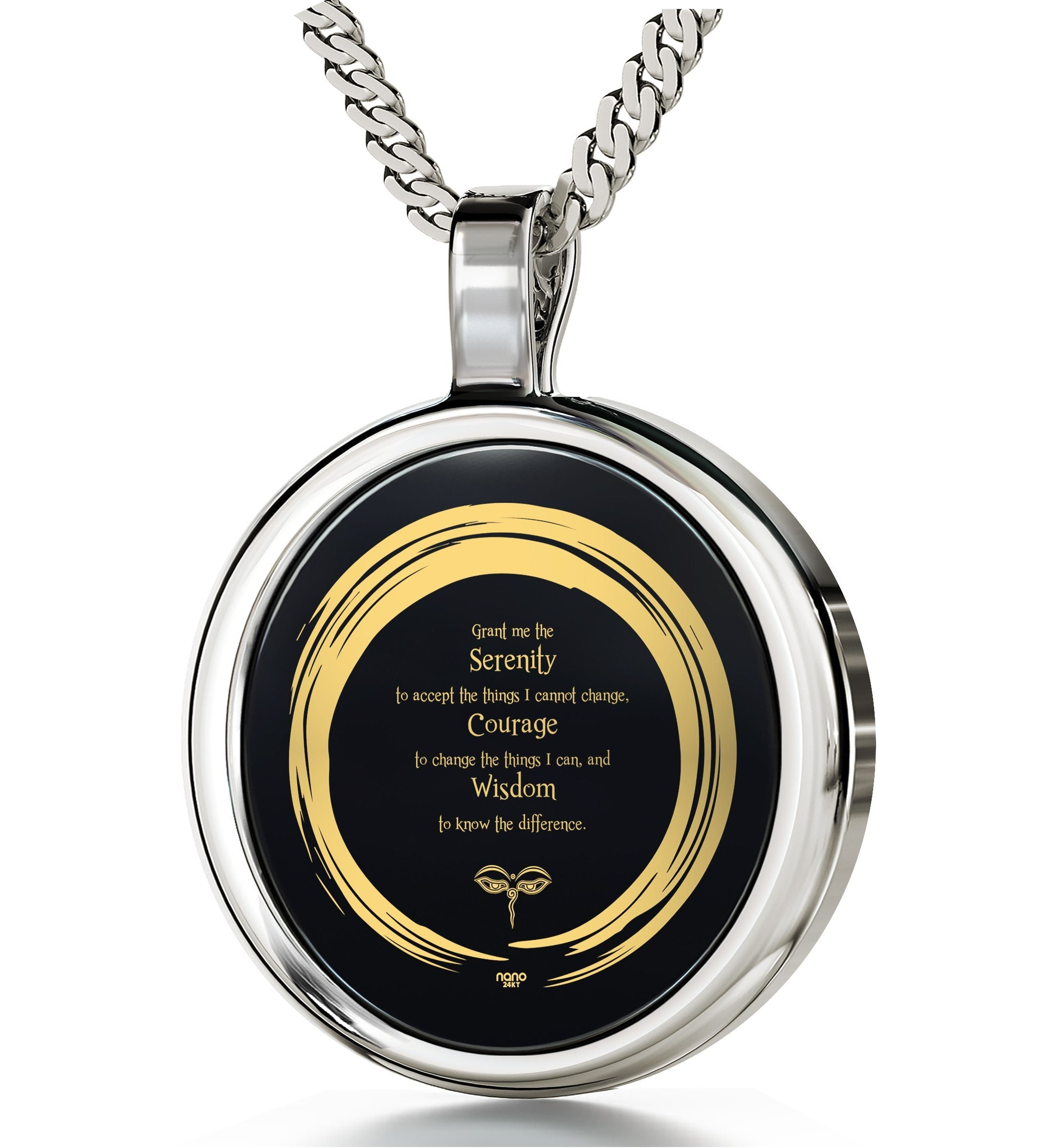 Serenity Prayer Necklace: Great Gifts for Her, Womens Birthday Presents, Nano Jewelry