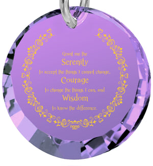 Serenity Prayer Jewelry: Women's Gifts for Christmas, Girlfriend Birthday Ideas, Nano Jewelry