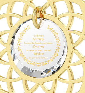 Serenity Prayer Necklace: Gifts for Wife for Christmas, Womens Birthday Presents, Nano Jewelry
