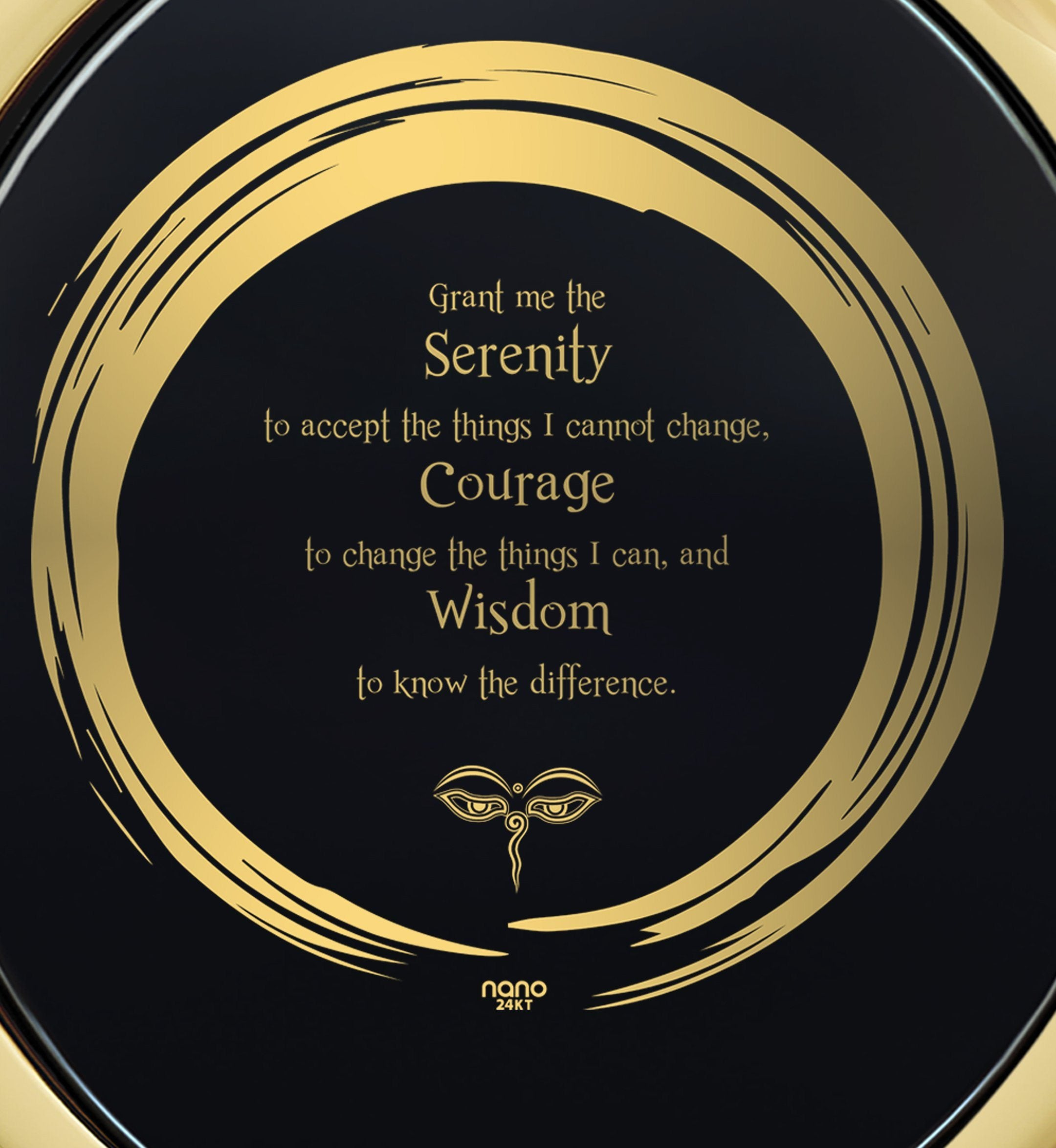 Serenity Prayer Jewelry: Great Gifts for Her, Womens Birthday Presents, Real Gold Necklace, Nano Jewelry
