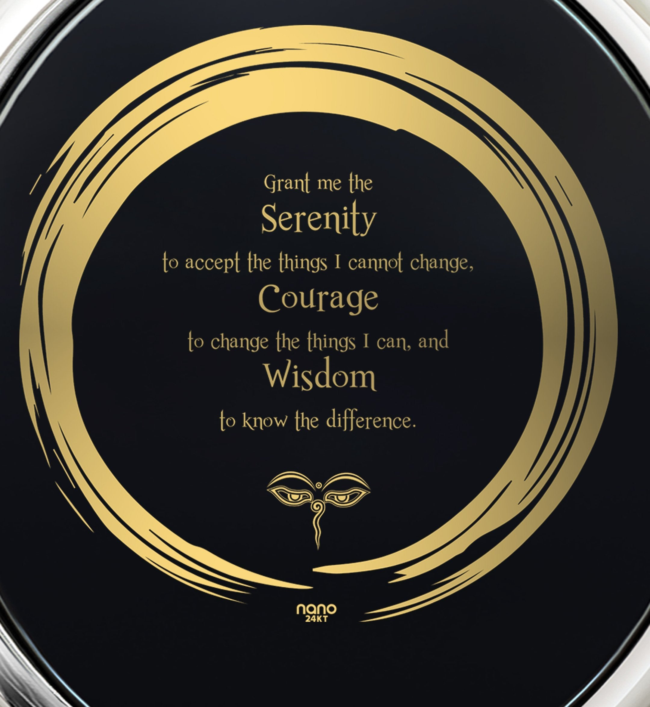 Serenity Prayer Jewelry: Great Gifts for Her, Womens Birthday Presents, Real 14k White Gold Necklace, Nano Jewelry