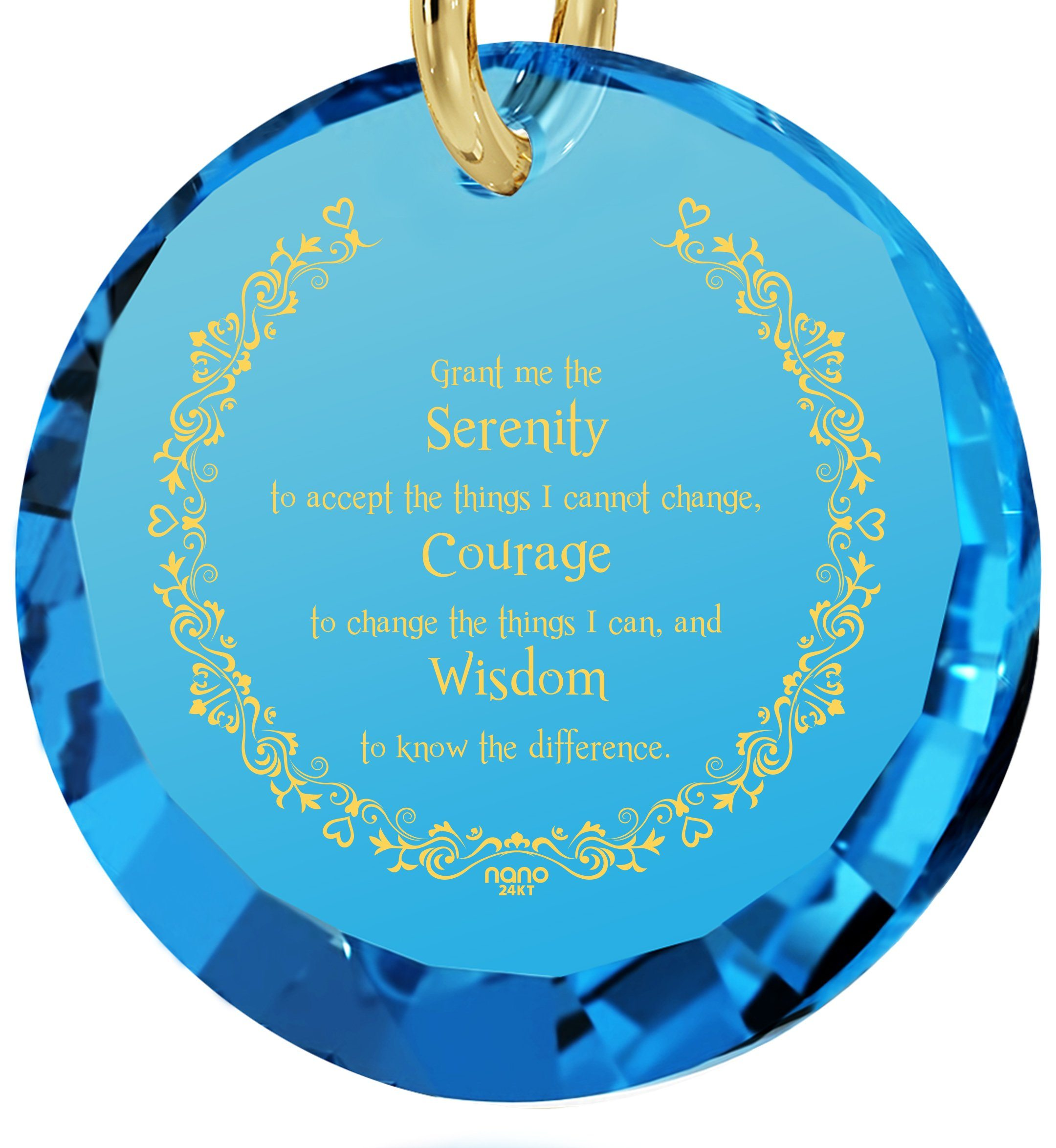 Serenity Prayer Necklace: Valentine's Day Gifts for Girlfriend, Women's Gold Jewelry, Nano Jewelry