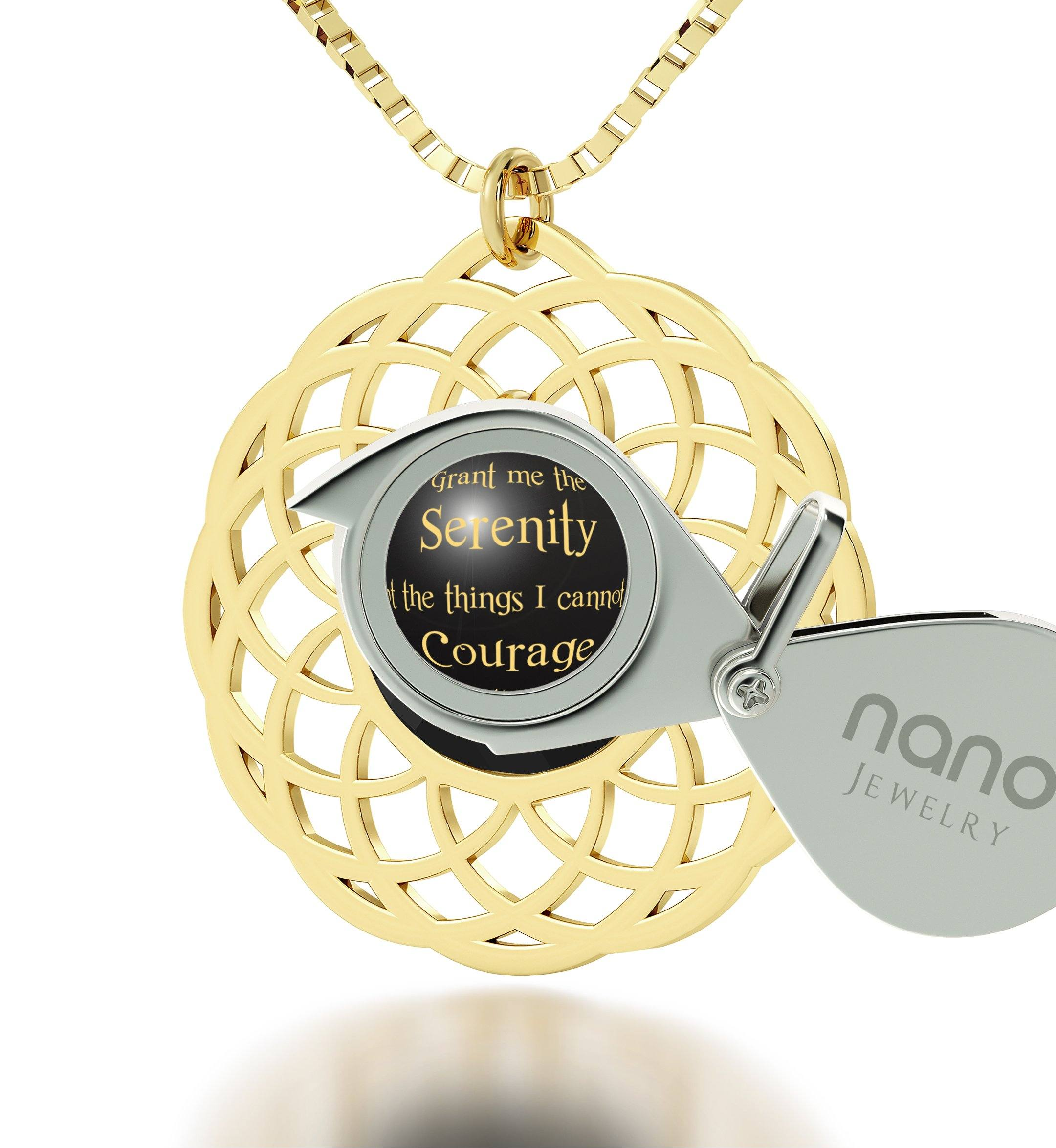 Serenity Prayer Necklace: What to Get Girlfriend for Christmas, Womans Gifts, Nano Jewelry