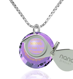 Serenity Prayer Necklace: Women's Gifts for Christmas, Girlfriend Birthday Ideas, Nano Jewelry
