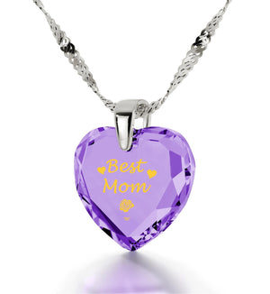 Special Gifts for Mom,White Gold Chain with Pendant,Mother Birthday Present, by Nano Jewelry