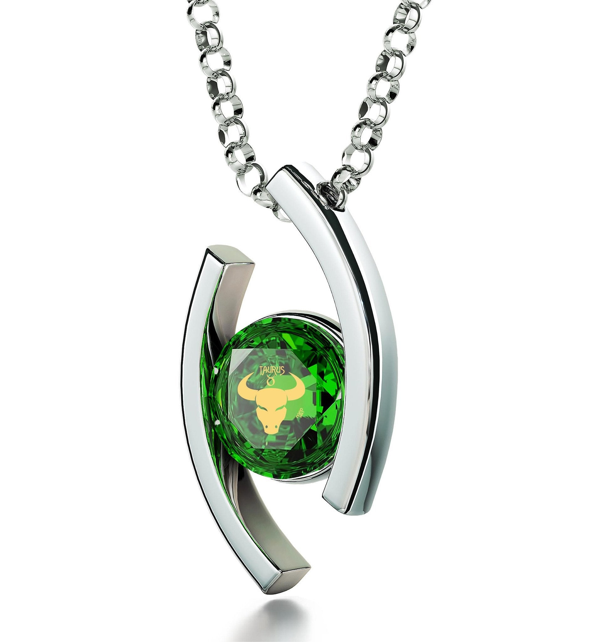 stone necklace zircon online green white set