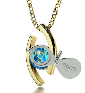 """Taurus Necklace With Zodiac Imprint, Christmas Present Ideas for Best Friend, Valentines Day Ideas for Girlfriend, by Nano"""