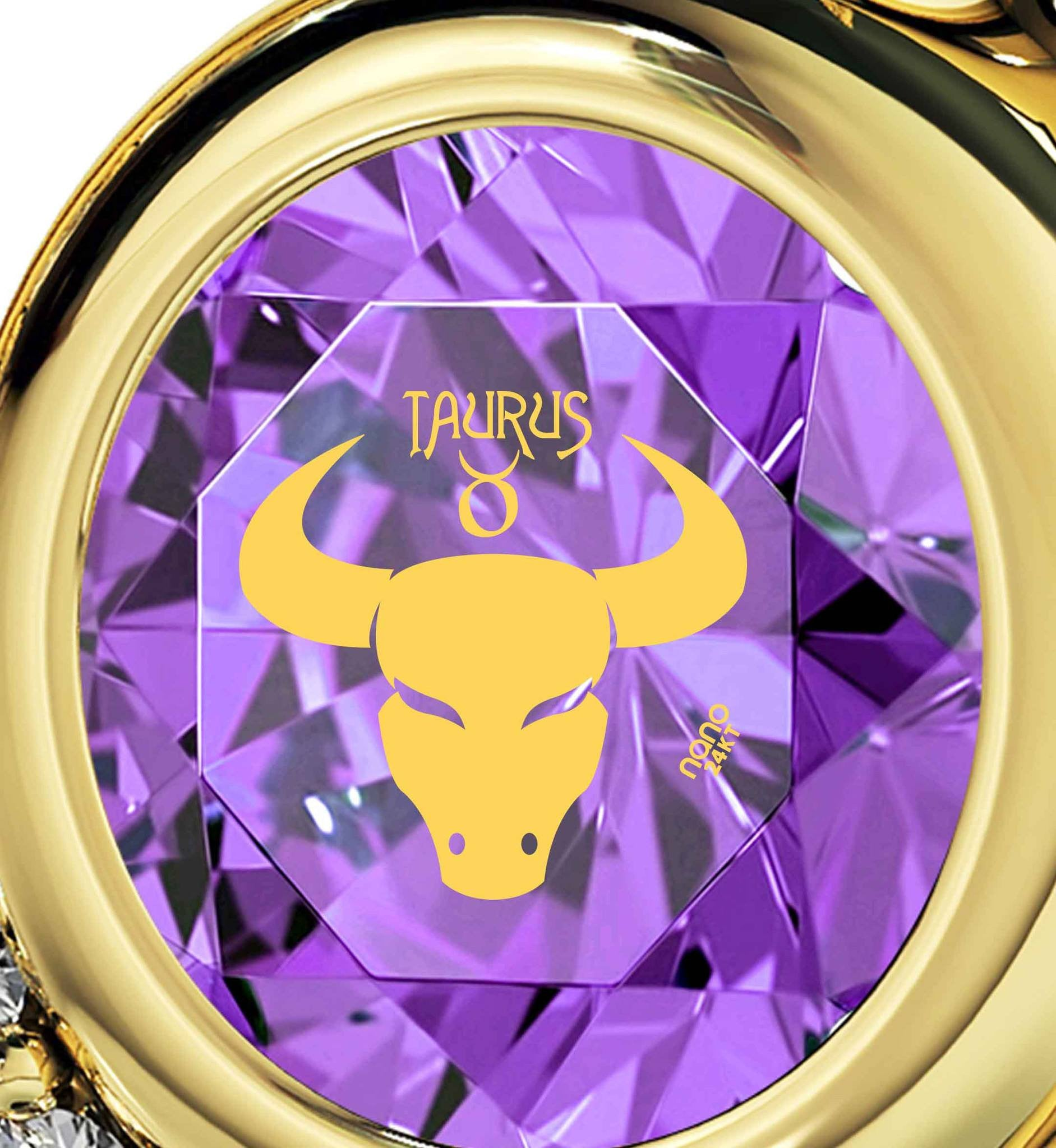 """Taurus Necklace With Zodiac Imprint, Top Gift Ideas for Women, Christmas Presents for Teenagers, 14k Gold Jewelry """