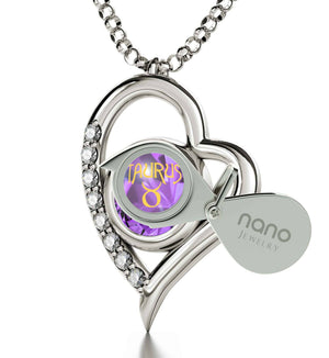 """Taurus Necklace With Zodiac Imprint, Mother's Day Gifts From Husband, Girlfriend Christmas Presents, by Nano Jewelry"""
