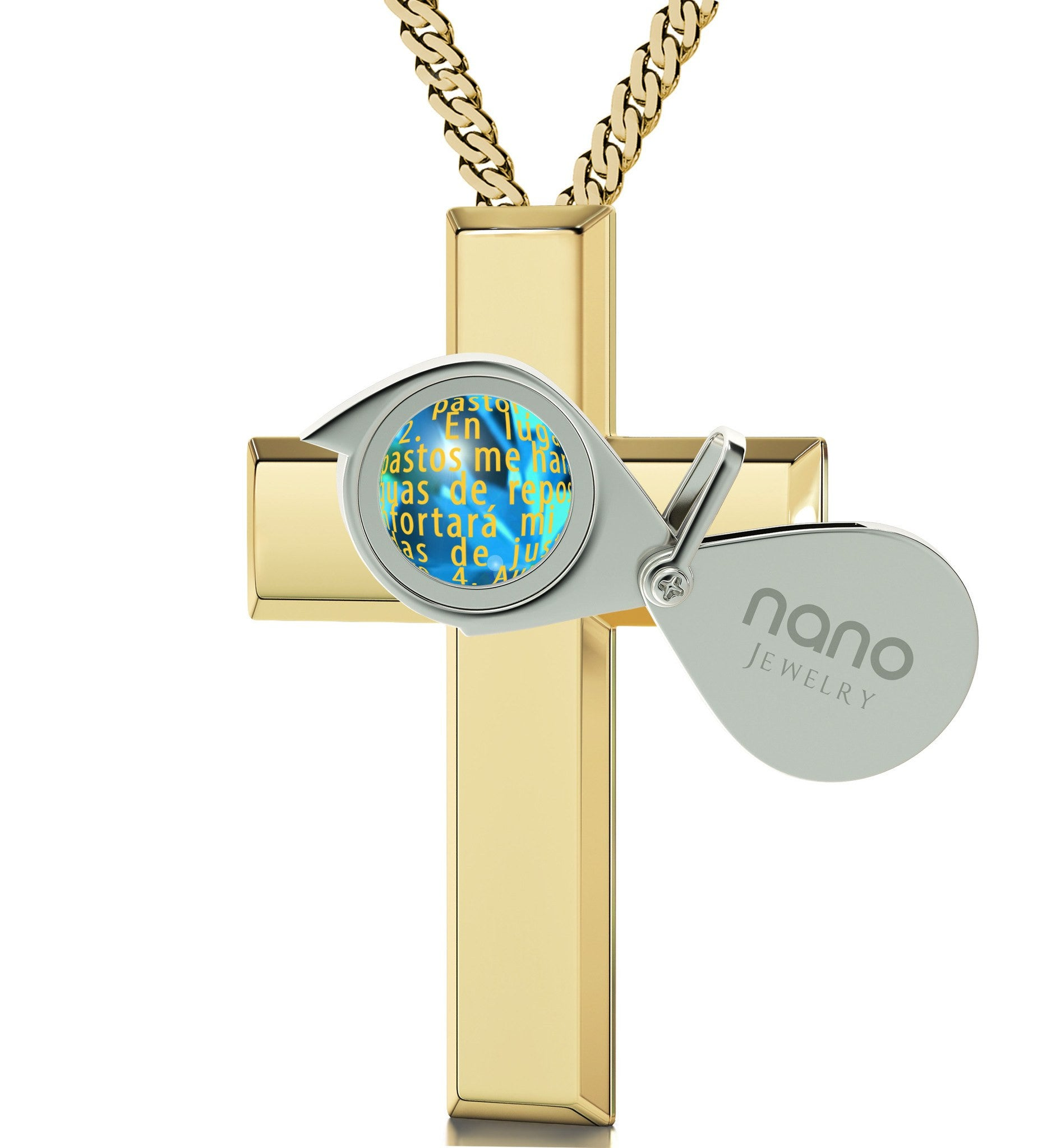 """JehovaEsMi Pastor Engraved in 24k: Birthday Present for Girlfriend, Valentines Ideas for Wife by Nano Jewelry"""