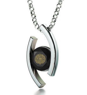 """Psalm23 in 24k: GoodChristmasPresents for Mom, GoodValentineGifts for Girlfriend,14k WhiteGoldNecklace with Pendant"""
