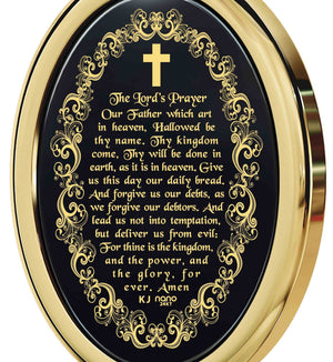 """The Lord's Prayer: Scripture Jewelry, Women's Christmas Ideas, 14k Gold Necklace, Nano Jewelry"""