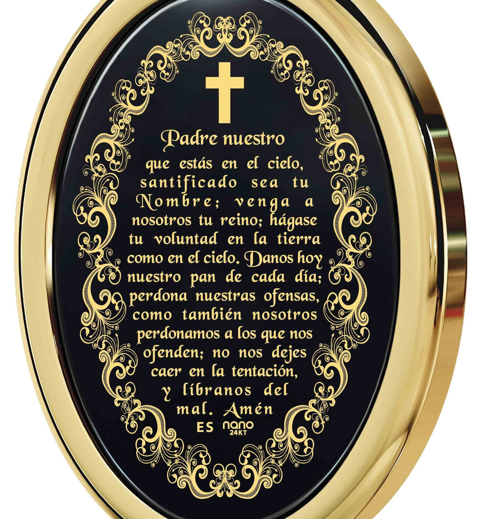 """The Lord's Prayer:14k Gold Religious Pendants,Gifts for Best Friend Woman,Womens Presents"""
