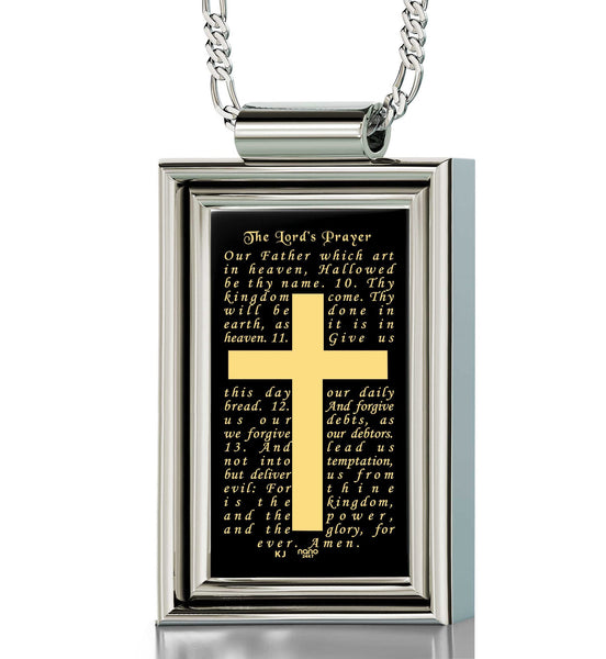 """The Lord's Prayer: Our Father Engraved in 24k, Mens Christmas Ideas, Christian Gifts for Men"""