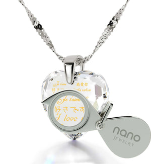 Things to Get Your Girlfriend for Christmas, CZ White Stone, Best Valentine Gift for Wife by Nano Jewelry