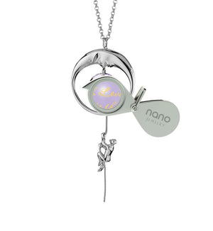 Valentines Presents for Girlfriend: I Love You to the Moon and Back - Climber - 925 Sterling Silver - Nano Jewelry
