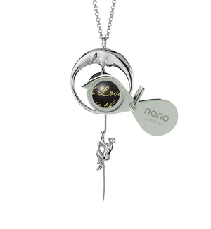 Valentines Day Gifts for Girlfriend: I Love You to the Moon and Back - Climber - 925 Sterling Silver - Nano Jewelry