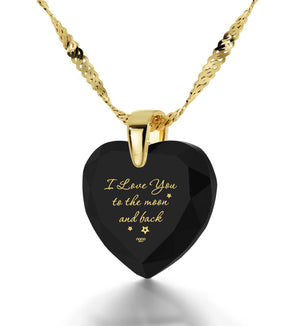 """Good Presents for Girlfriend, Gold Filled Chain, 24k Engraved Jewelry,Gifts for Young Women, Nano"""