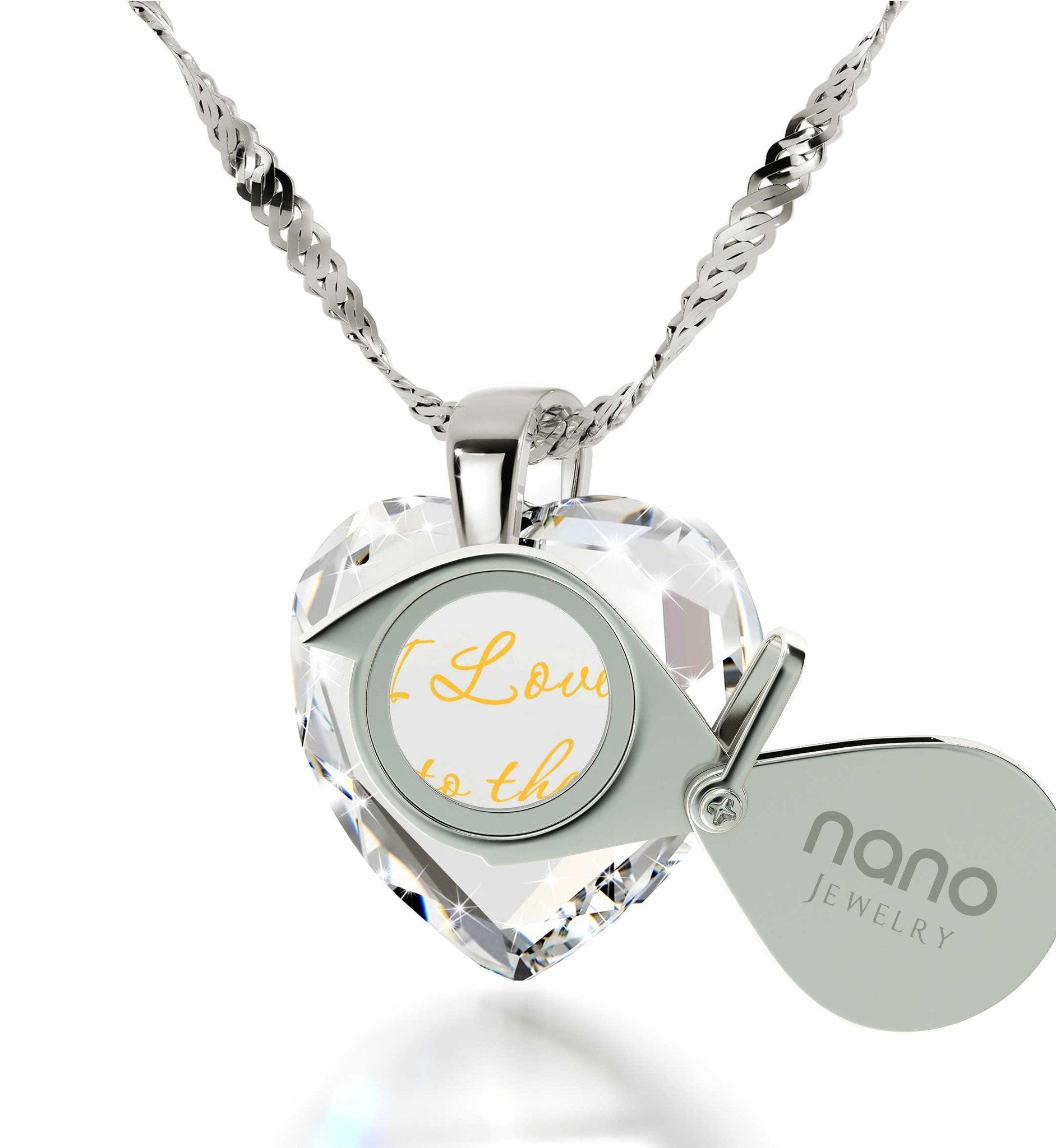 """Good Valentines Day Gifts for Girlfriend,Sterling Silver Necklace Chain, Cool Xmas Presents, Nano Jewelry"""
