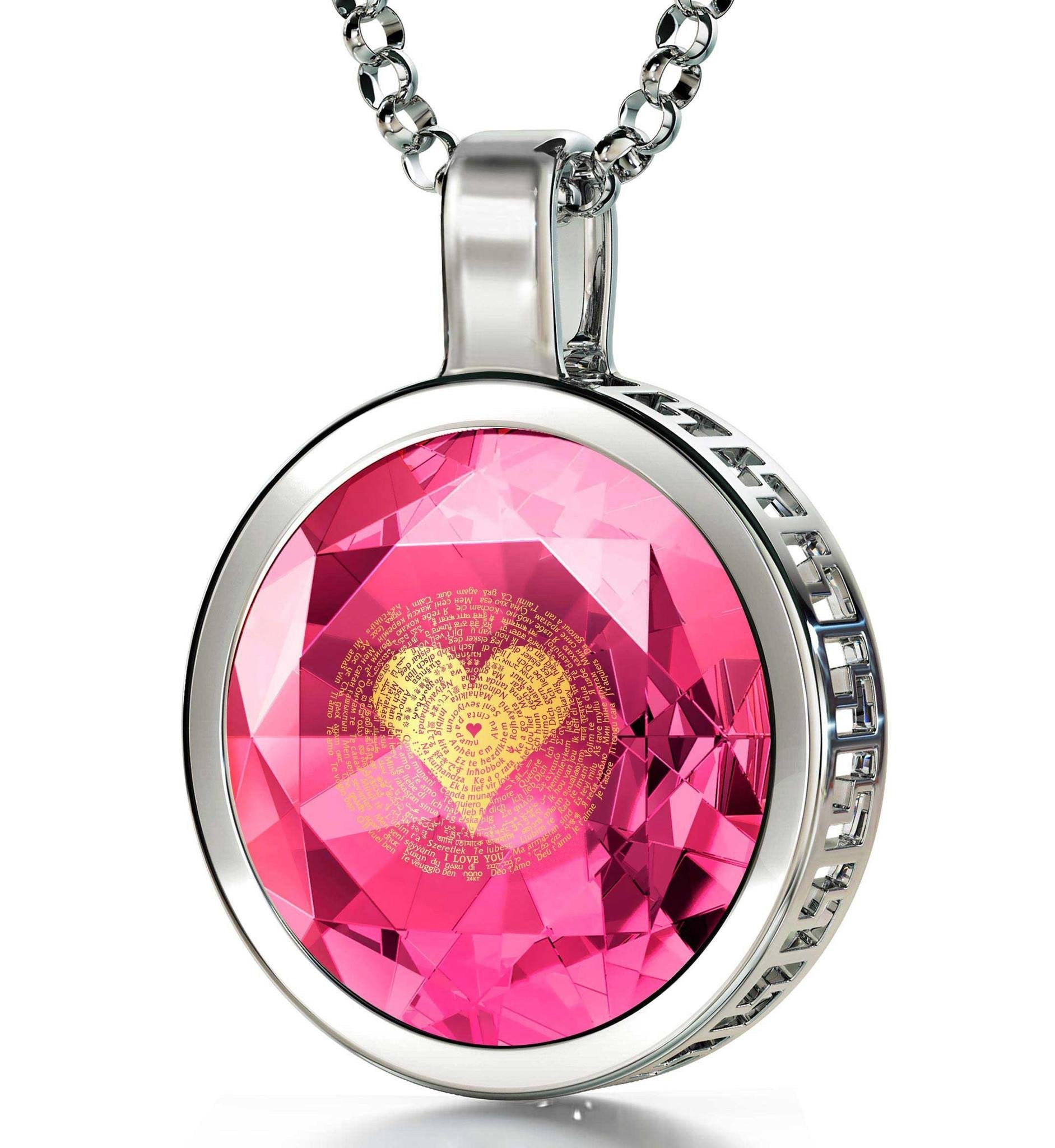 Top Gift Ideas for Women, Heart Necklaces for Girlfriend, Engraved Pendants, Anniversary Presents for Her by Nano Jewelry