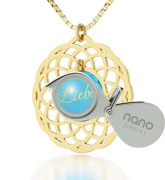 Top Gift Ideas for Women, Love in Other Languages, Gold Filled Chain, Womens Presents, Nano Jewelry