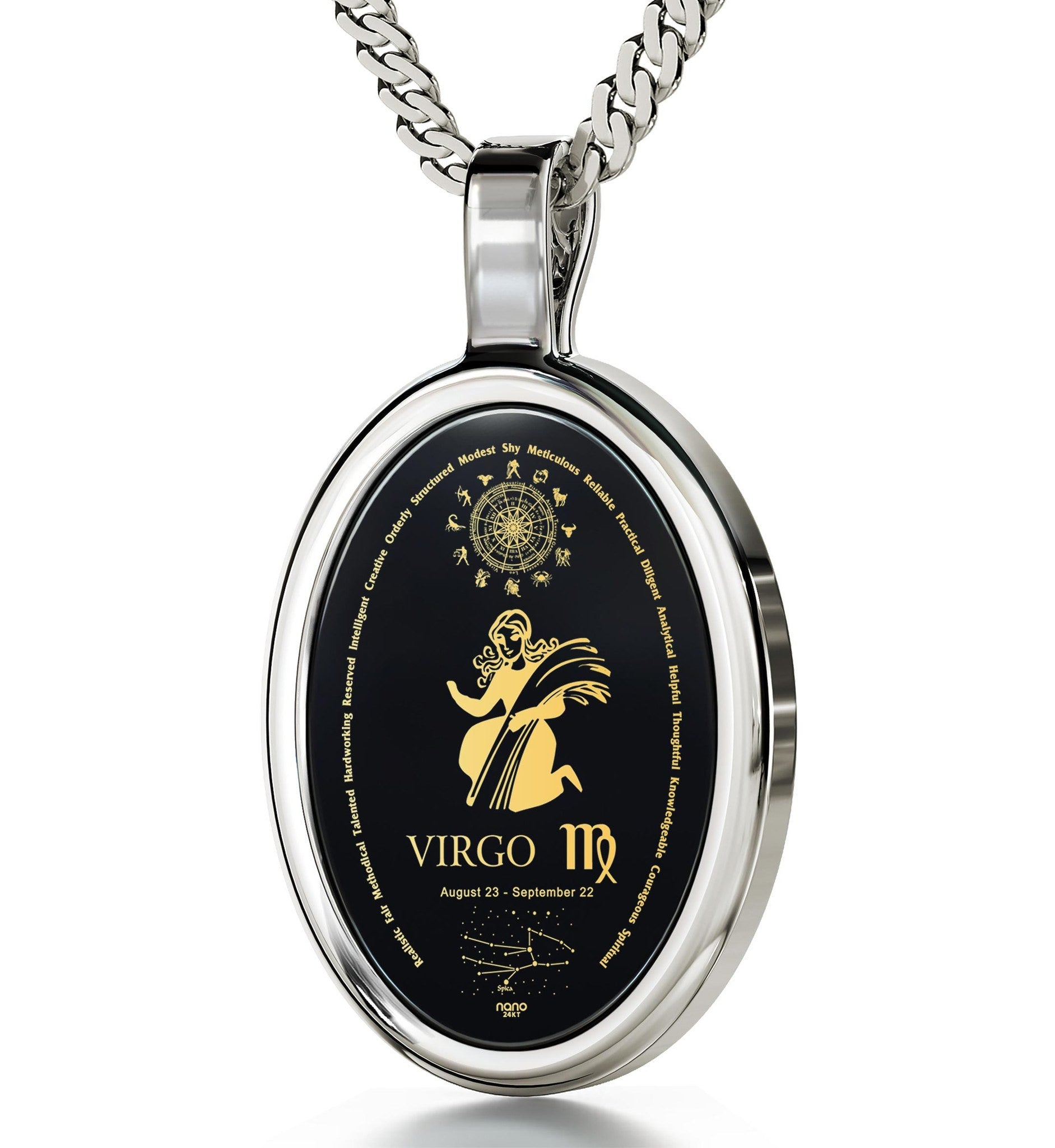 Top Gift Ideas for Women: Virgo Jewelry, Horoscope Necklace, Good Christmas Presents for Girlfriend