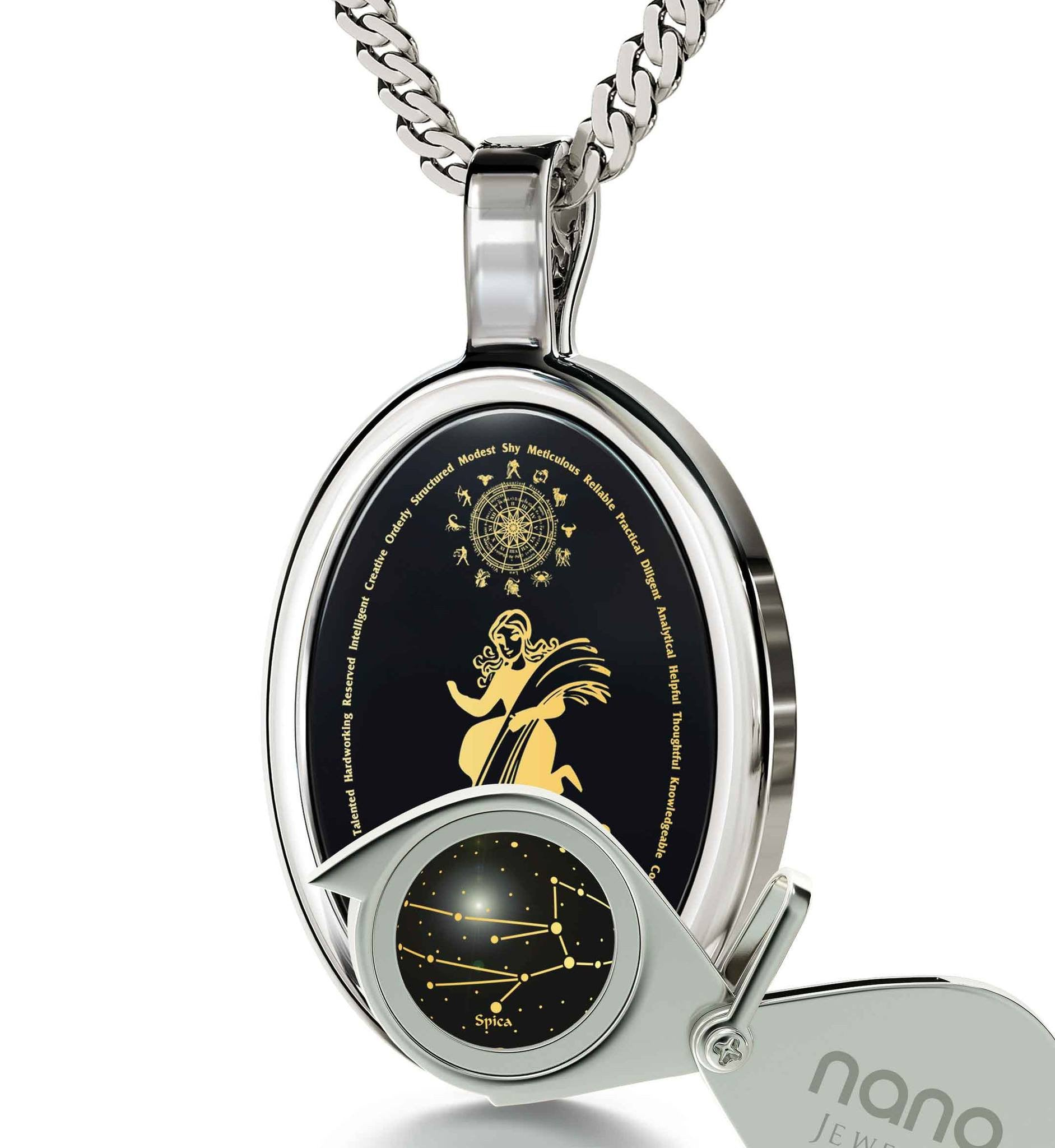 Top Gift Ideas for Women: Zodiac Sign Necklace, Women's 14k White Gold Jewelry, Good Christmas Presents for Girlfriend by Nano