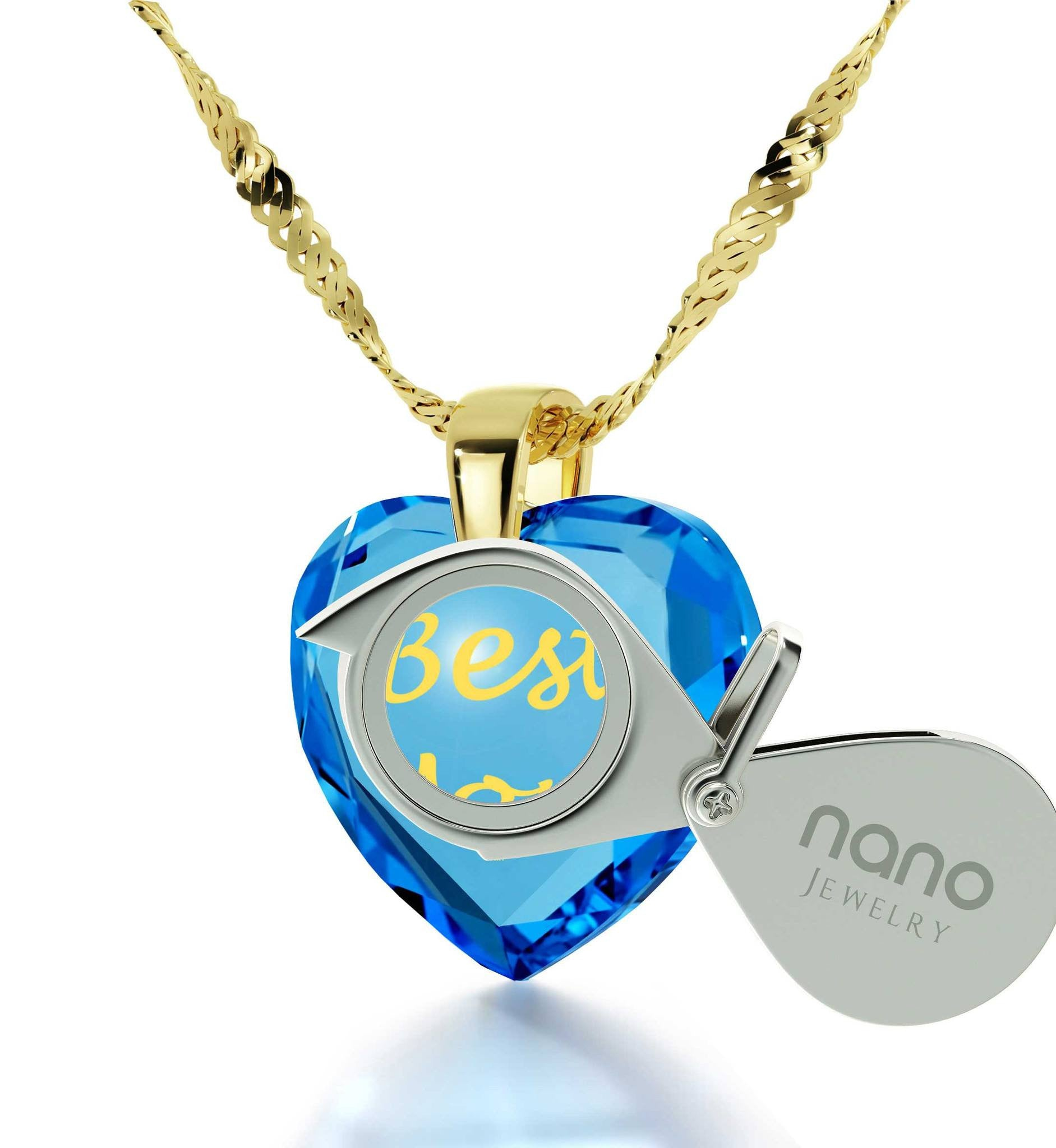 Top Gifts for Mom, 14k Gold Engraved Necklaces, Best Gift for Mother's Day, by Nano Jewelry