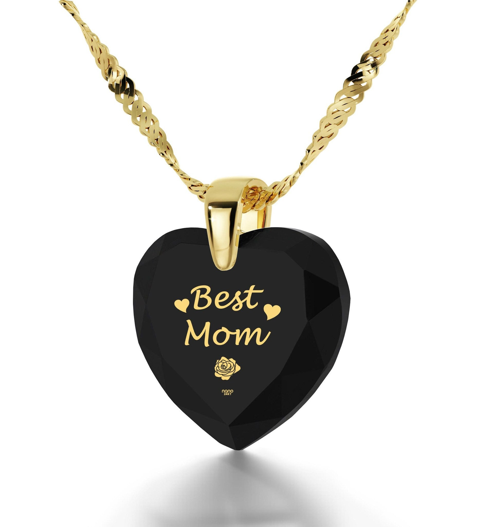 Top Gifts for Mom, 14k Gold Meaningful Necklaces, Mother Daughter Jewelry, by Nano