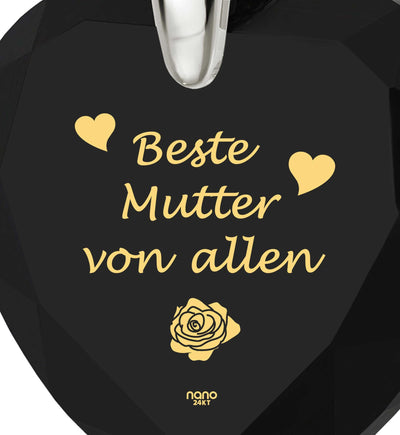 """Good Presents for Mom, ""Beste Mutter Von Allen"", Heart Necklaces for Women, Best Gift for Mother's Day by Nano Jewelry"""