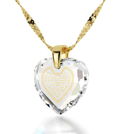 Top Gifts for Mom, Mothers Jewelry with CZ Heart Shaped Stone, Unusual Christmas Presents, by Nano