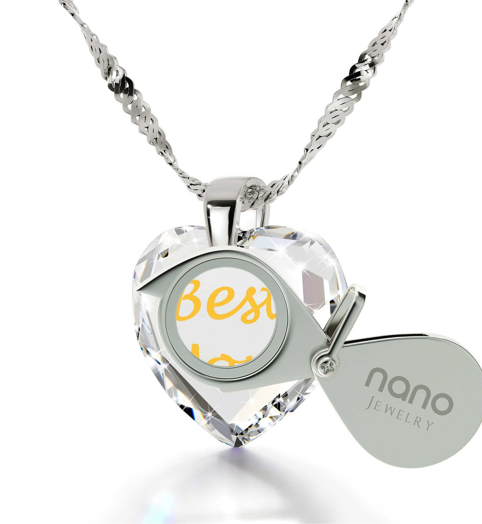 Top Gifts for Mom, White Stone Necklace, Mother Birthday Present,by Nano Jewelry