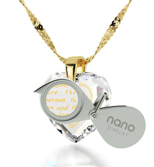 Top Gifts for Moms, Mothers Jewelry with CZ Heart Shaped Stone, Unusual Christmas Presents, by Nano