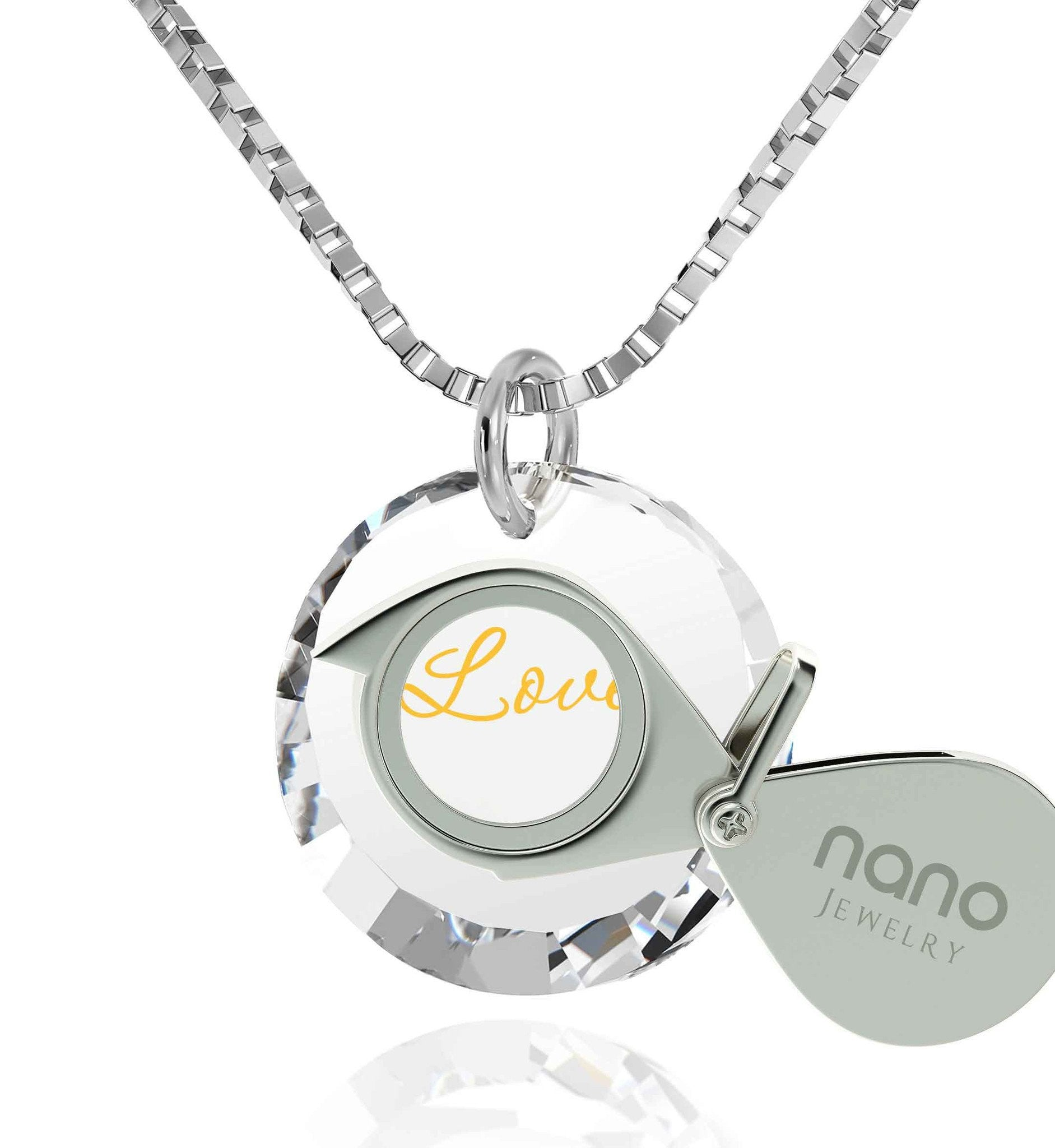 : Top Gifts For Wife 24k Engraved Pendant Cz Jewelry Valentines Ideas For Her Nano