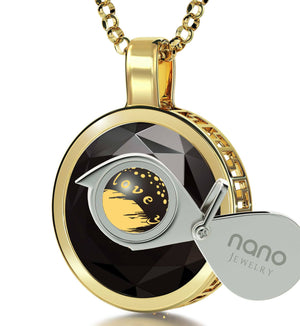 """Top Gifts for Wife,""I Love You to The Moon and Back""Engraved Jewelry, Birthday Ideas for Girlfriend, Nano"""