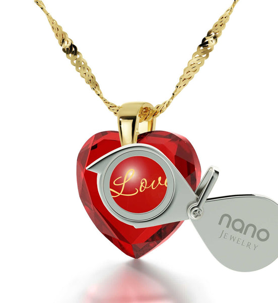 Top Gifts for Wife, Unique I Love You Necklaces, 30th Birthday Present Ideas for Her, by Nano Jewelry