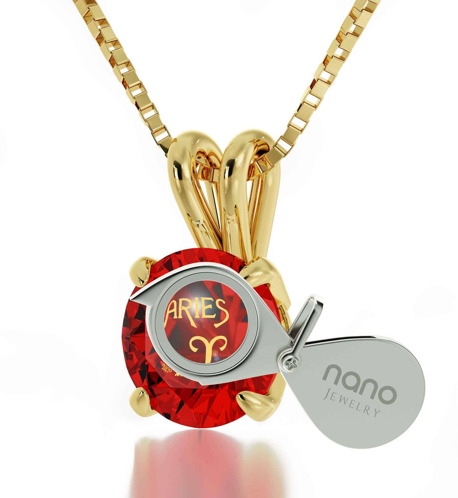 """TopGifts for Wife,ZodiacSignNecklace,AriesPendant,BestGifts for GirlfriendChristmas"""