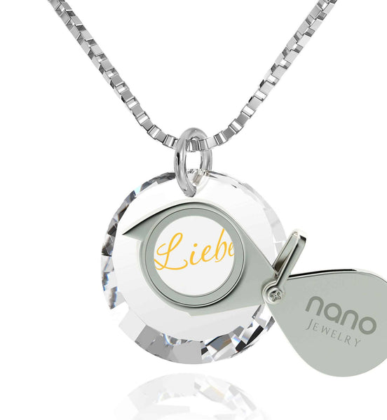 Top Womens Gifts, Love in Other Languages, Romantic Christmas Gifts for Her, Nano Jewelry