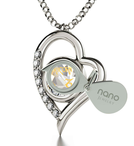 """Crystal Birthstone 14k White Gold Jewelry, What to Get Wife for Christmas, Perfect Valentines Gift for Girlfriend, by Nano"""