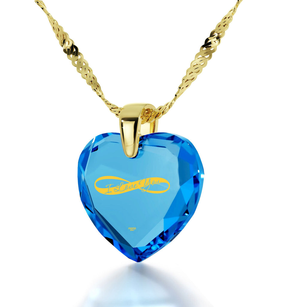 Valentine's Day Gifts for Wife, 24k Imprint, Gold Filled Necklace, Cute Presents for Girlfriend, by Nano Jewelry