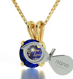 "Great Gifts for Wife, ""Ti Amo"", Dainty 14k Gold Necklace, Girlfriend Christmas Presents by Nano Jewelry"