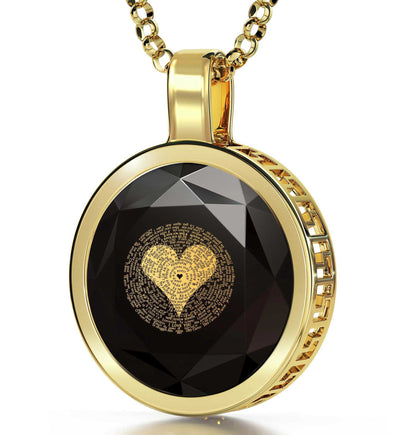 Valentine's Day Gifts for Wife: What Are the Love Languages, CZ Black Stone, Girlfriend Christmas Presents by Nano Jewelry
