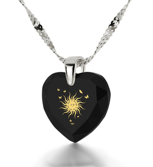 """Valentines Day Ideas for Her,""I Love You to the Sun and Back"" Engraved In Pure Gold, Cool Gift"""