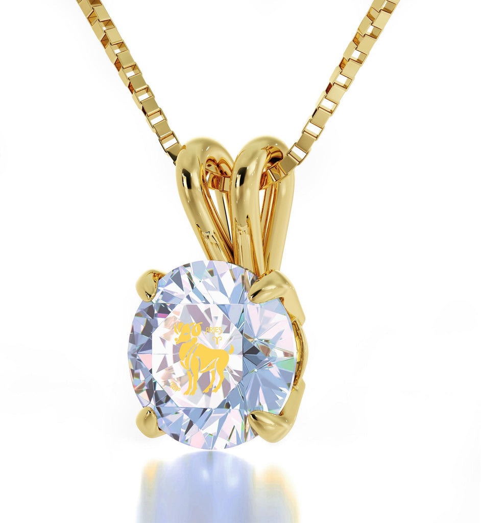 """ChristmasPresentIdeas for Wife,AriesSignPendant,CrystalStoneJewelry,Valentine'sDayGifts for Girlfriend"""
