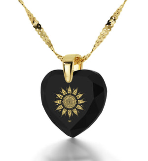"""Valentines Day Presents,""I Love You to the Sun and Back"" In 24k Pure Gold, Necklaces for Women"""