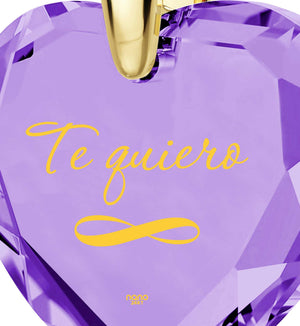 """Present for Girlfriend,""I Love YouForever""in Spanish – ""TeQuiero"", Christmas Gift for Wife"""
