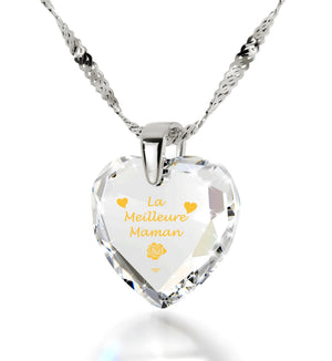 good christmas presents for mom la meilleure maman 14k white gold